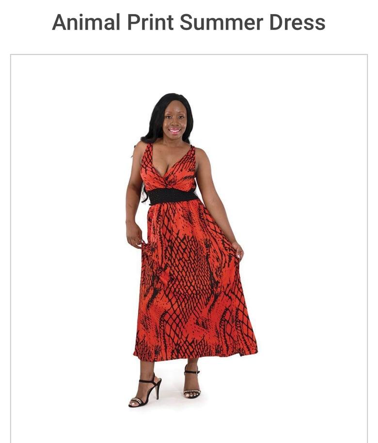 Image of Animal Print Summer Dress