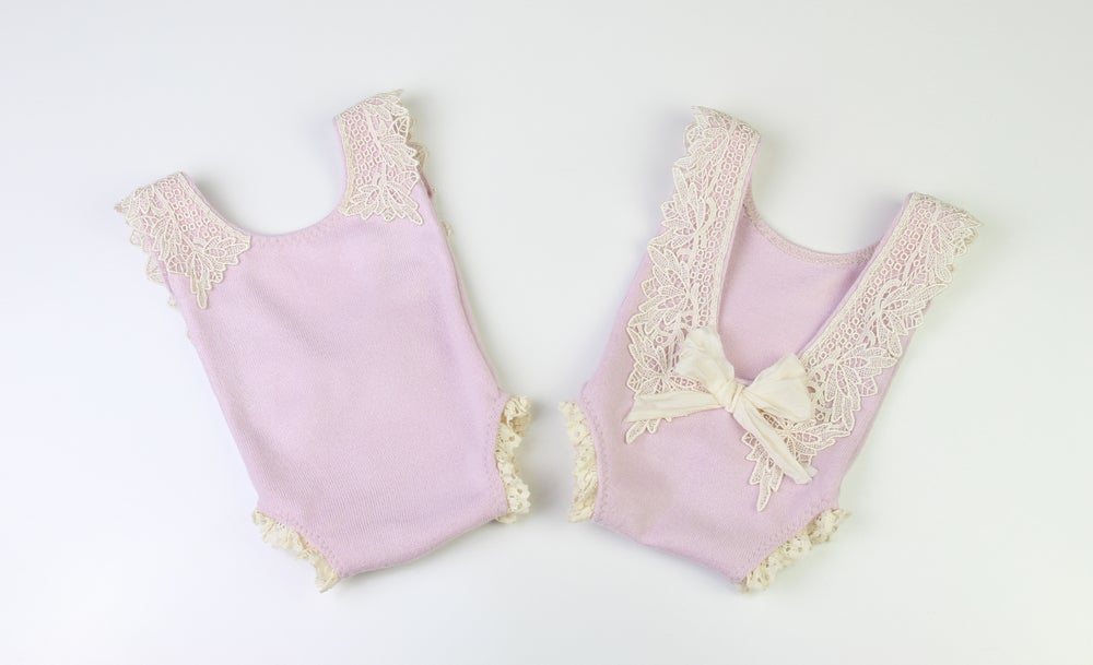 Image of Newborn Romper(front & back view)