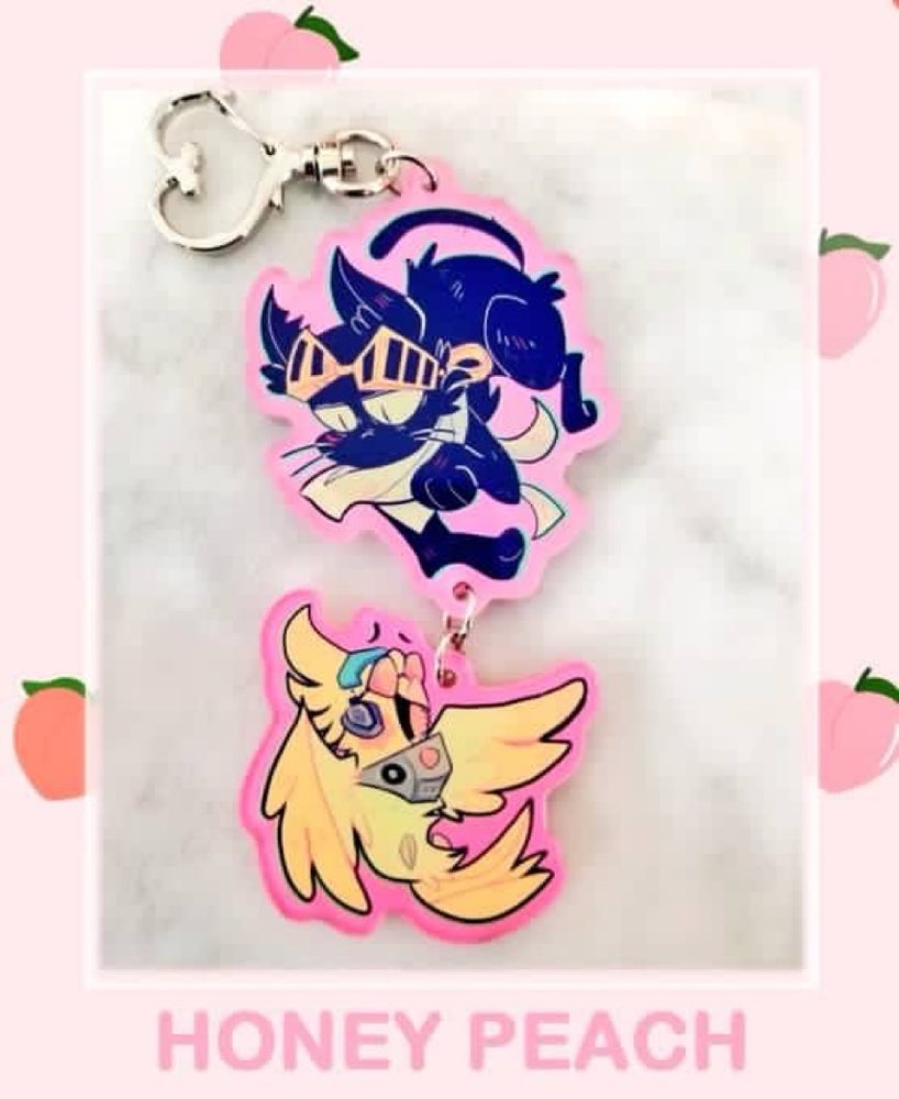 Image of KITTYZAWA AND BIRDMIC KEYCHAIN