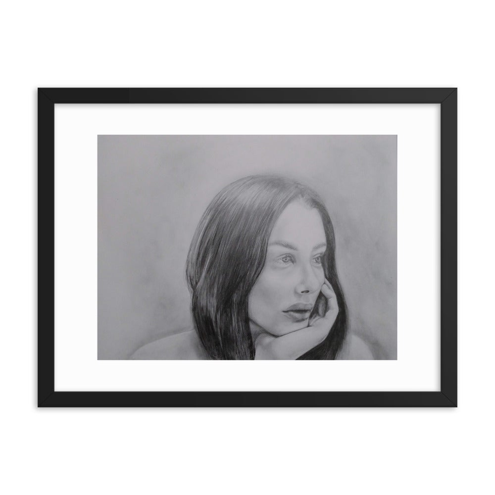 Image of Pensive Framed Print