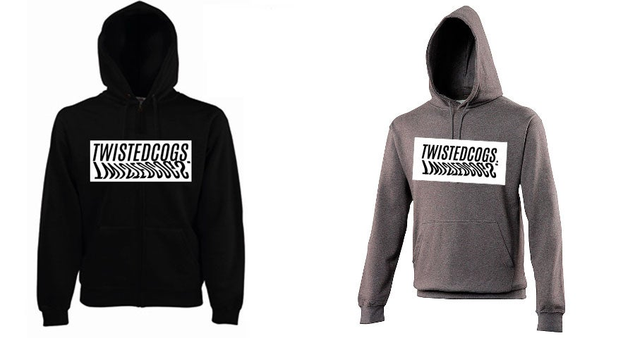 Image of Twisted Cogs Warped pullover hoody