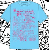 Image of Dungeonpunx Bizness Goblin Shirt - Powder Blue