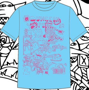 Image of Dungeonpunx Bizness Goblin Shirt - Powder Blue