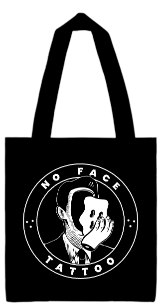 Image of No Face Tattoo Tote Bag