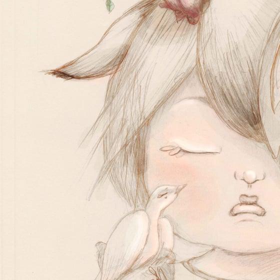 Image of PETITE D'AME NATURE - Illustration n°1 imprimée Edition limitée et numérotée