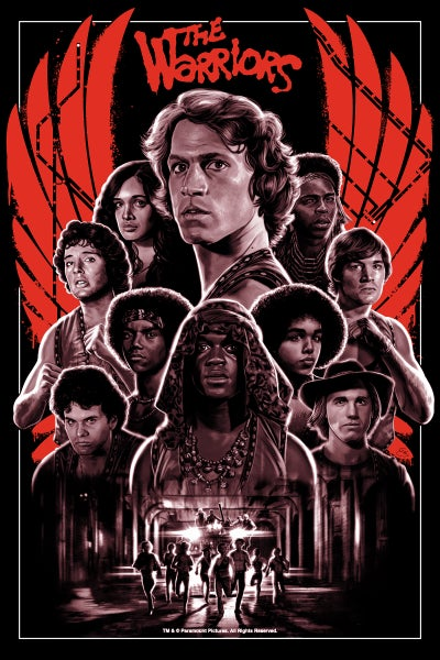 "Image of The Warriors 24x36"" screen print variant (officially licensed)"