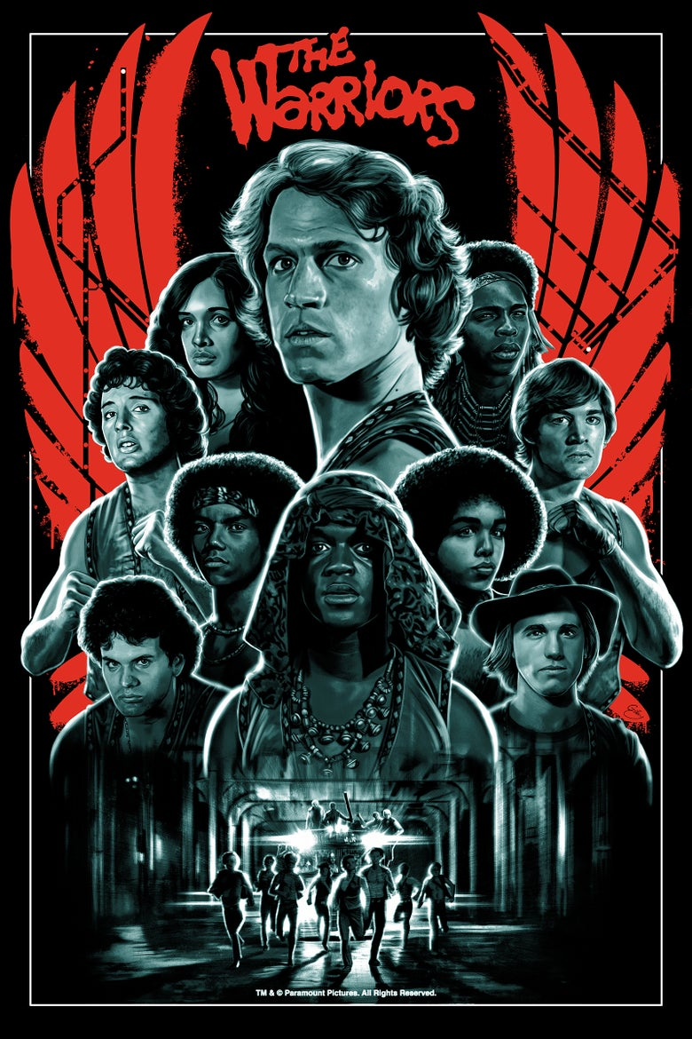 "Image of The Warriors 24"" x 36"" (officially licensed screen print – artist proof copies)"