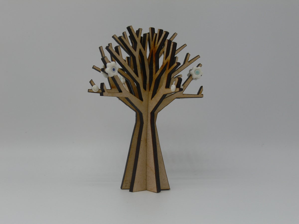 Image of Wood Tree Decoration
