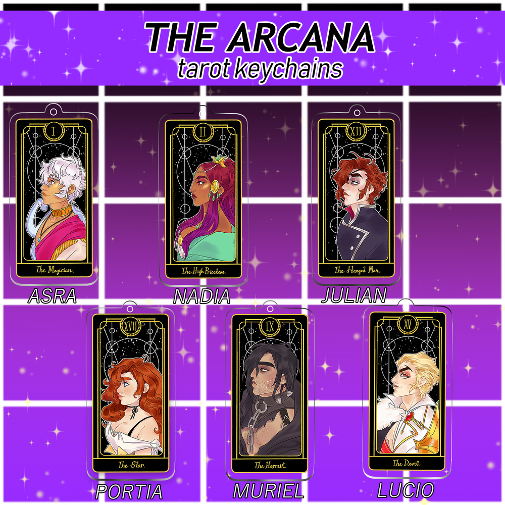 Image of [Discontinued] The Arcana Tarot Keychains