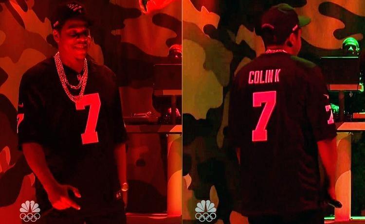 Image of Jay Z SNL Colin K Football custom
