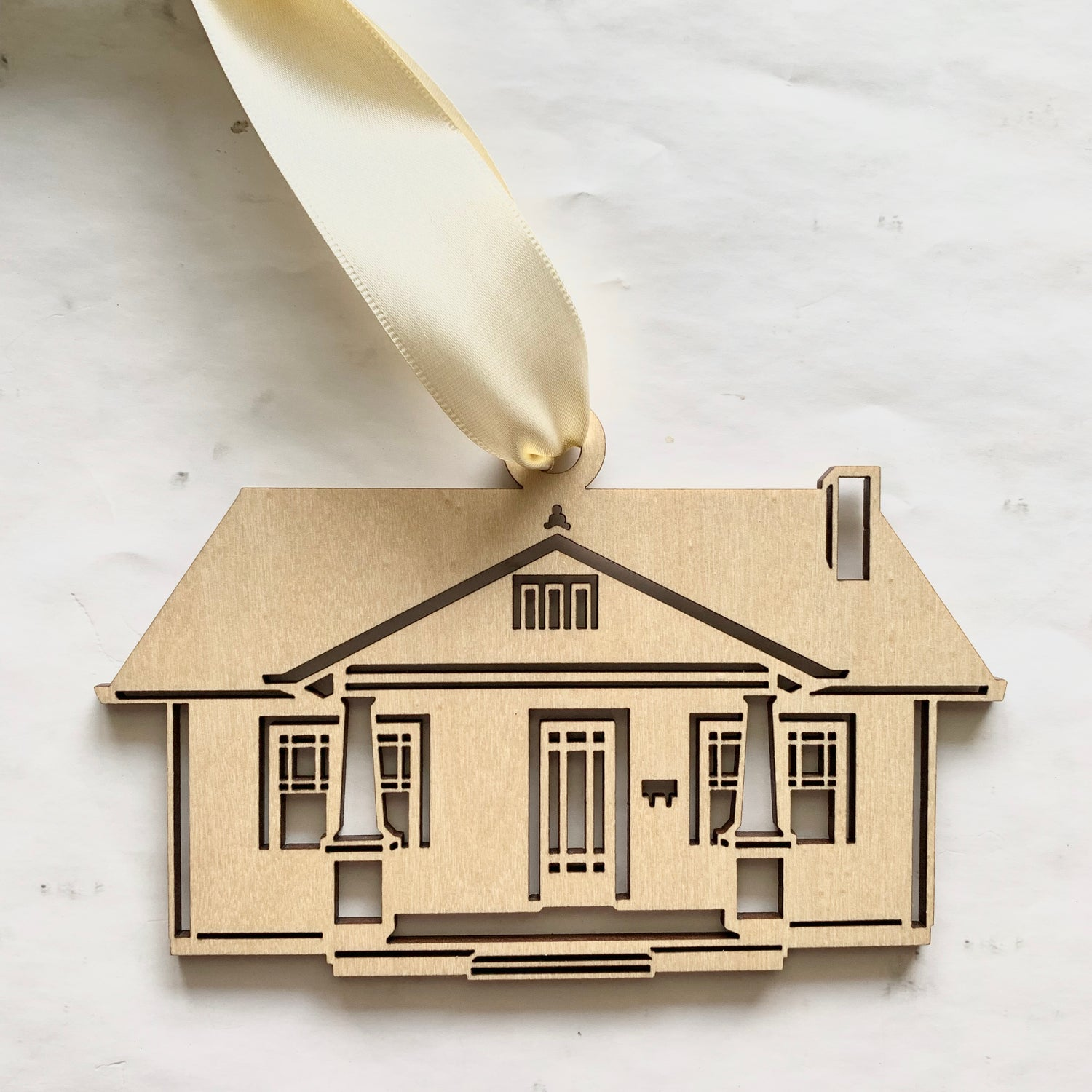 Image of Wooden House Portrait Ornament