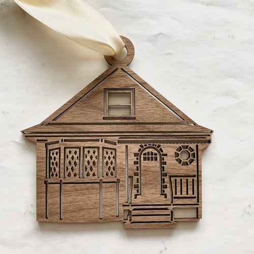 Image of Wooden or Acrylic House Portrait Ornament