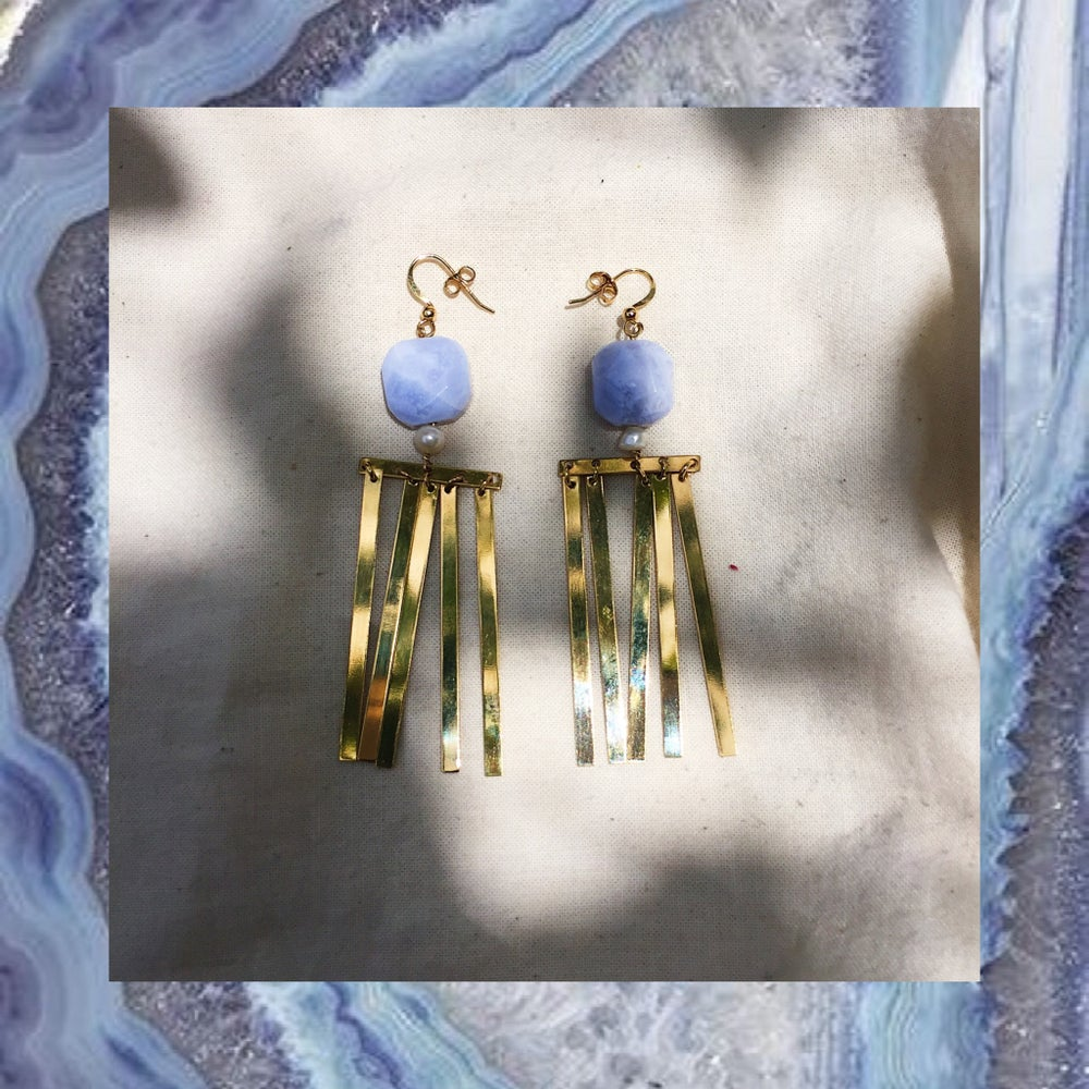 Image of SOLD OUT - BOUCLES PLUIE Calcédoine