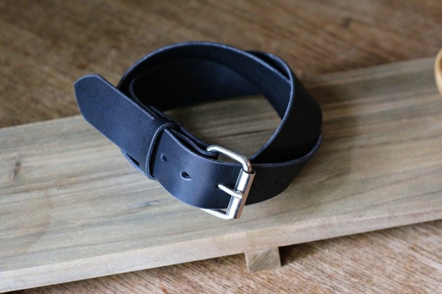 Image of Made to Measure Belt in Black Latigo