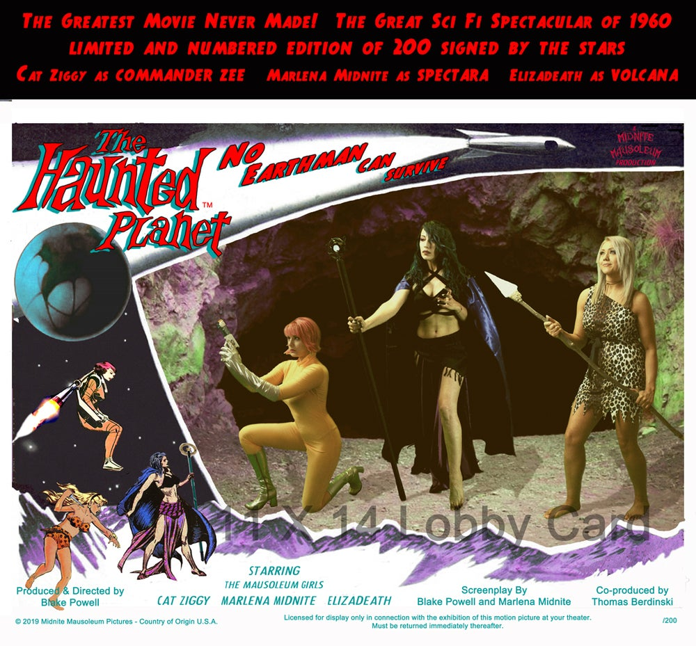 Image of Midnite Mausoleum THE HAUNTED PLANET Lobby Card