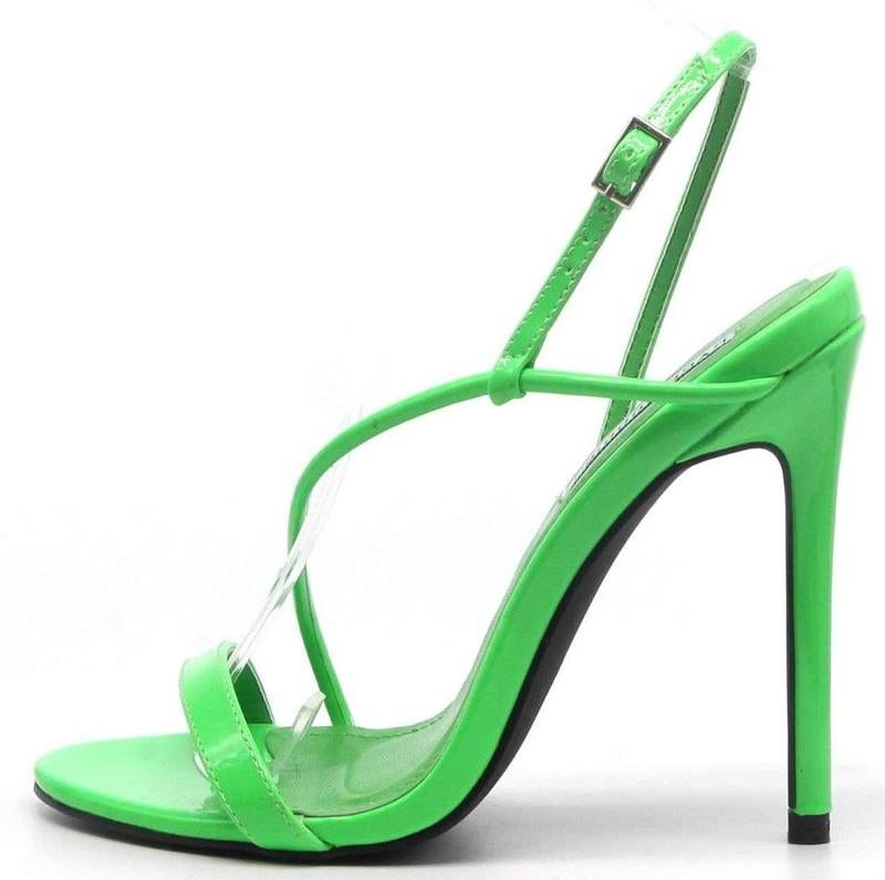 Image of Green Open Toe Heels