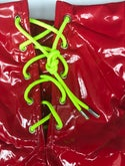 Colour POP red vinyl shorts