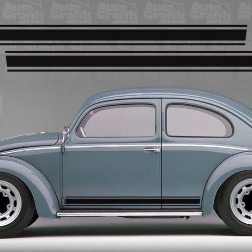 Image of TYPE 1 BEETLE VINTAGE TYPE SIDE STRIPE DECAL SET