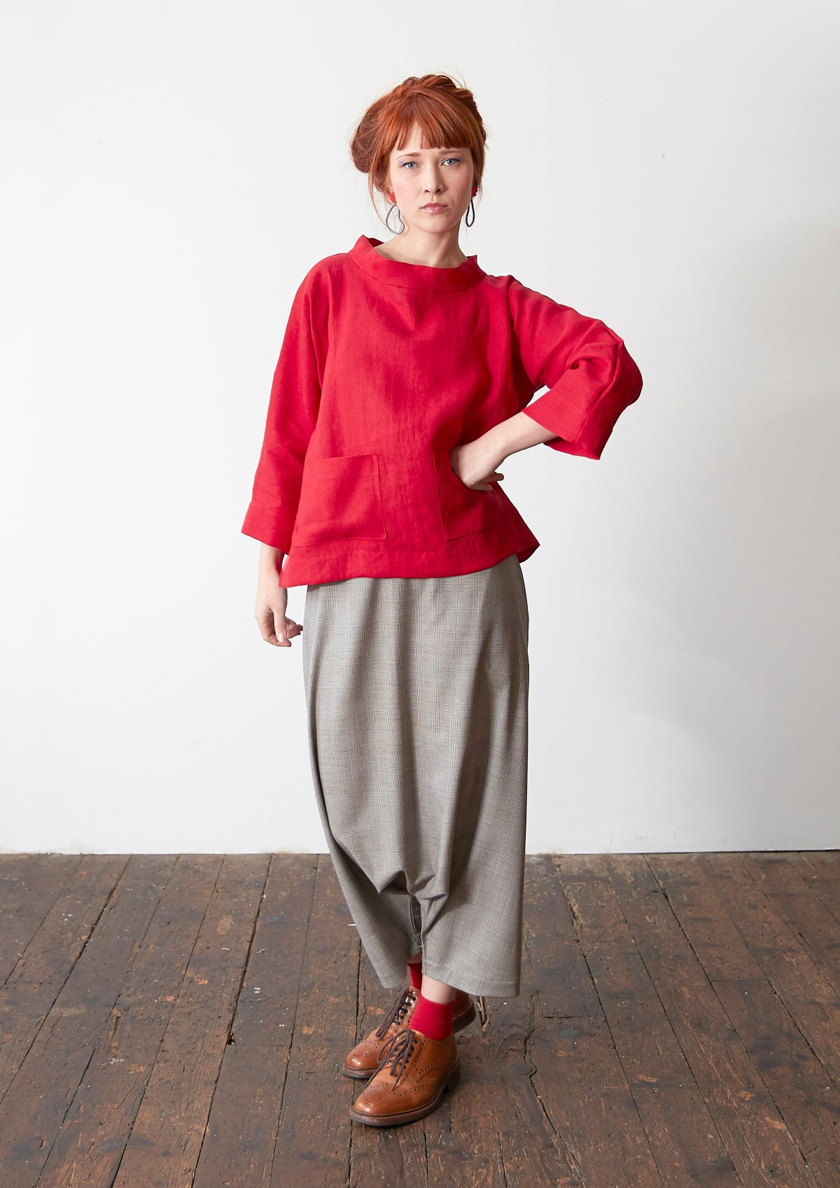 Image of Linen Sarouel Trousers