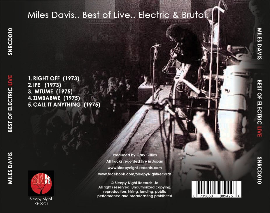 Image of Miles Davis: Best of Electric Live
