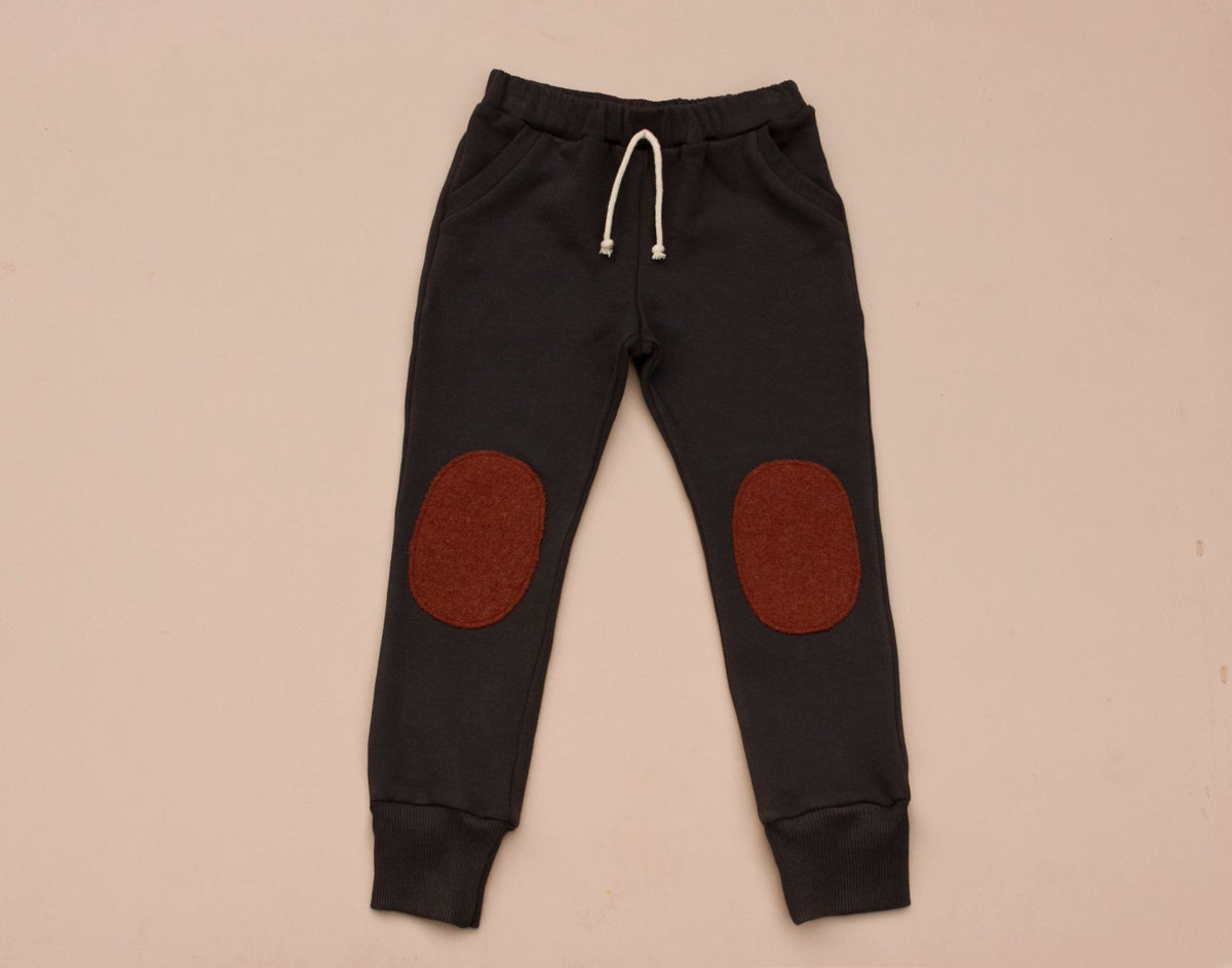 Image of Cotton sweatpants in charcoal and navy