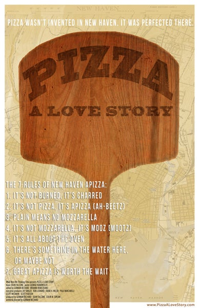 Image of Pizza, A Love Story poster/t-shirt/stickers