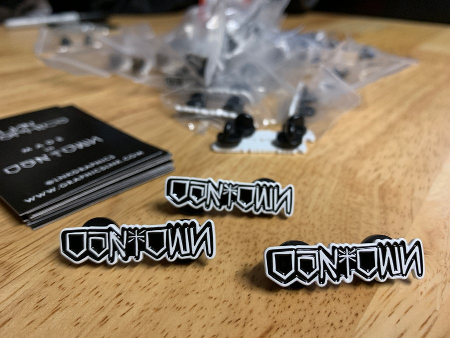 Image of 3 OAKTOWN ENAMEL PINS
