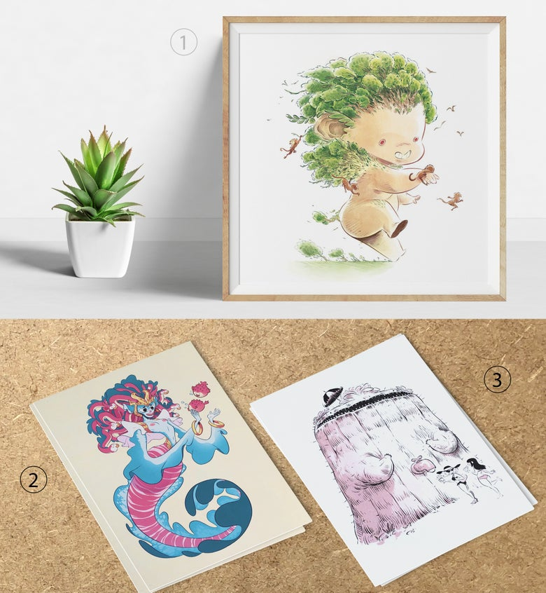 Image of Square Prints & A5