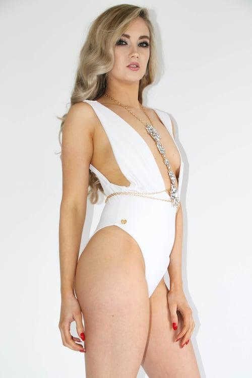 Image of Jacksons Fashion - White Megan Swimsuit