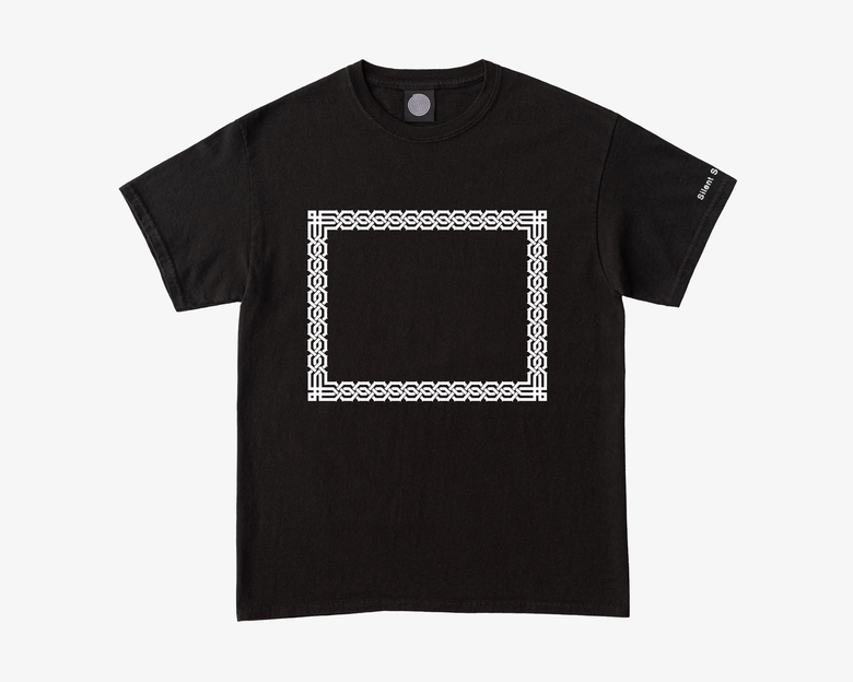 Image of S/S Empty Frame Tee - Black / White