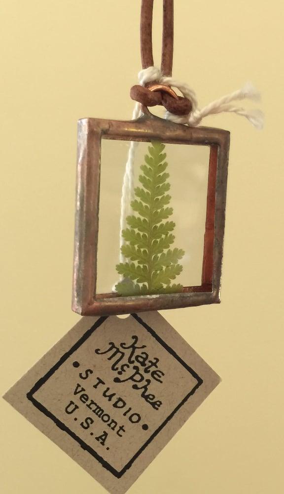 Image of fern pendant