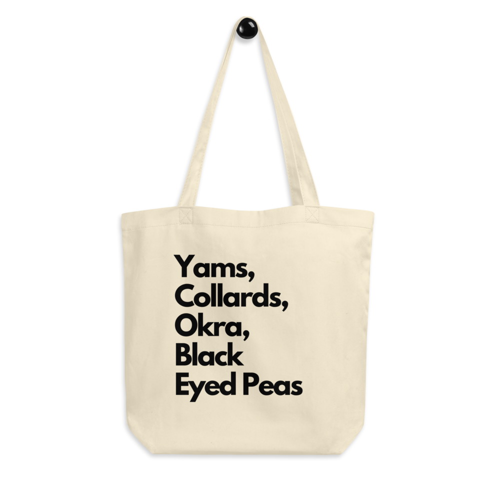 Image of Soulfood Grocery list Tote Bag