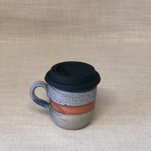 Image of DUSK Green Purple TRAVEL MUG