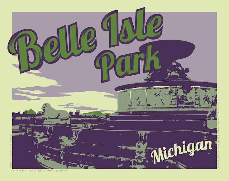 Image of Belle Isle Park 11x14 Print No. [091]