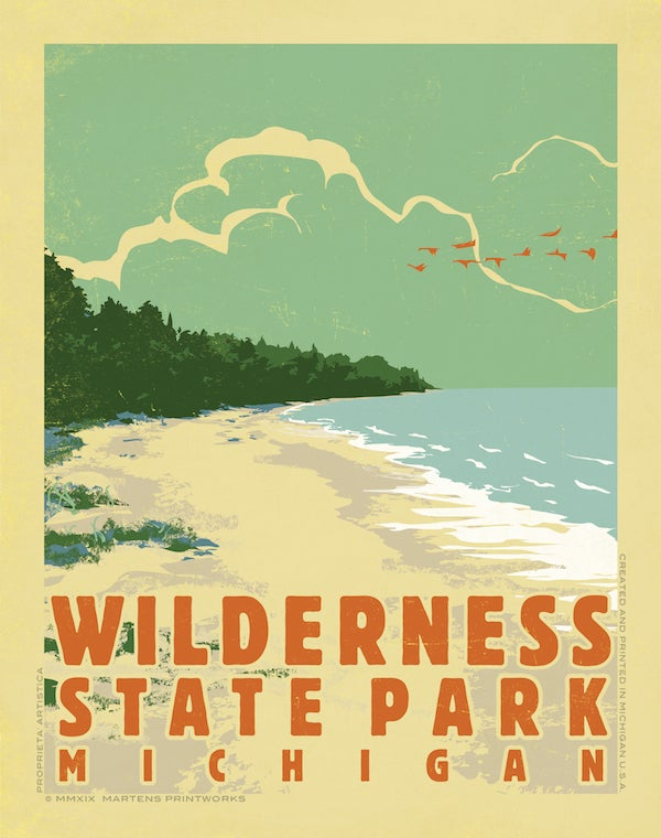 Image of Wilderness State Park 11x14 Print No. [089]