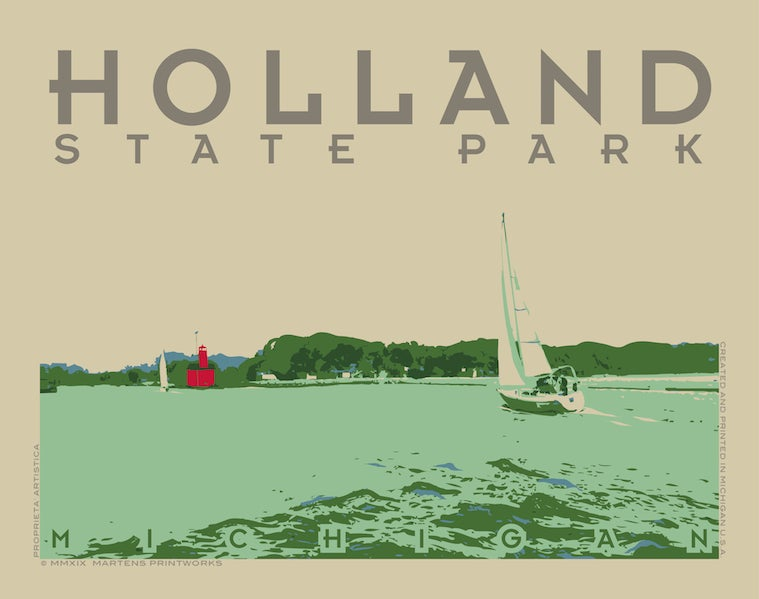 Image of Holland State Park 11x14 Print No. [088]