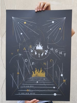 Image of YEAR OF NO LIGHT (gig poster Paris 2019)
