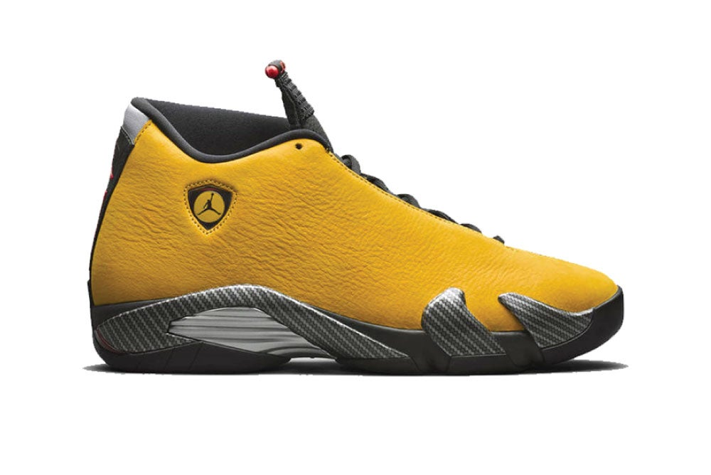 Image of [Pre-Order] Jordan 14 Retro Ferrari University Gold BQ3685-706