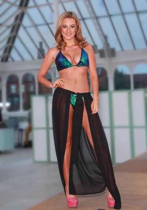 Image of Jacksons Fashion - Black Cover Up Wrap Skirt
