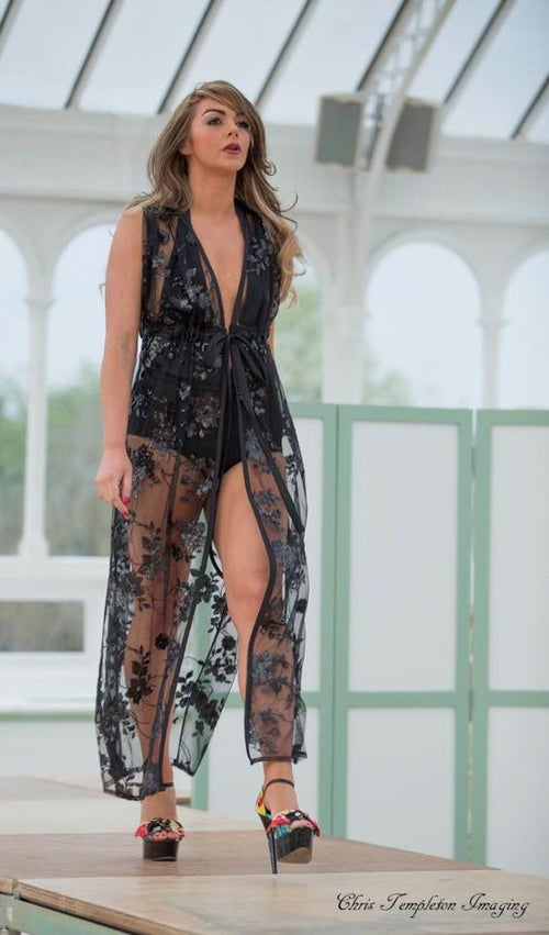 Image of Jacksons Fashion - Sequin Side Split Maxi Cover Up