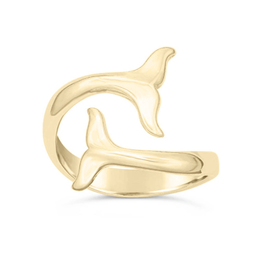Image of Finback Whale Ring - Gold
