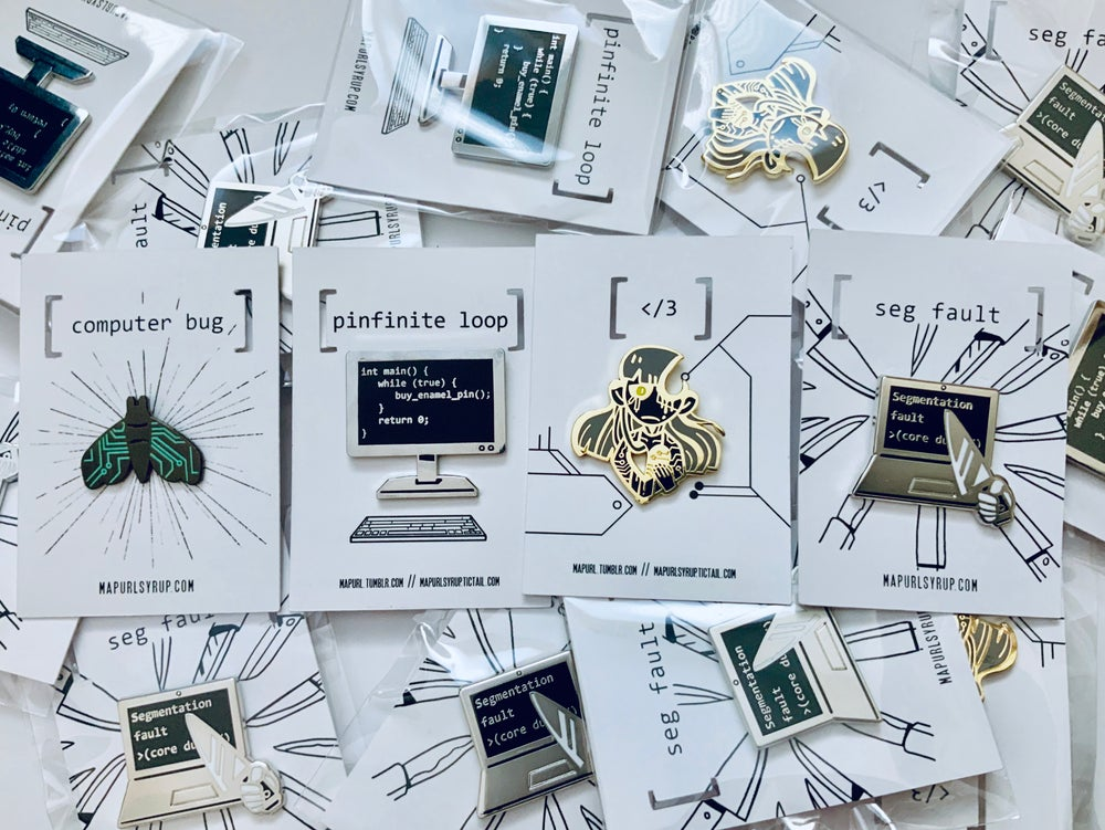 Image of Circuits and Signals Enamel Pin Set