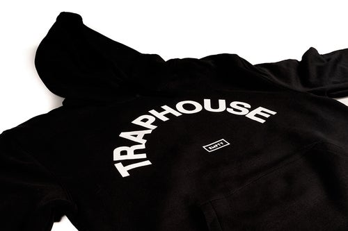 Image of TRAPHOUSE Black HOODIE