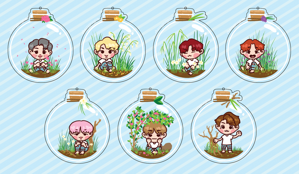 BTS Bottle Charms