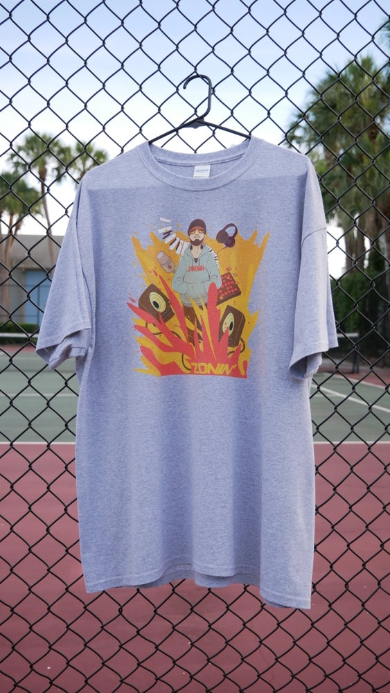 Image of Zonin' Fire Tee (Sport Grey)