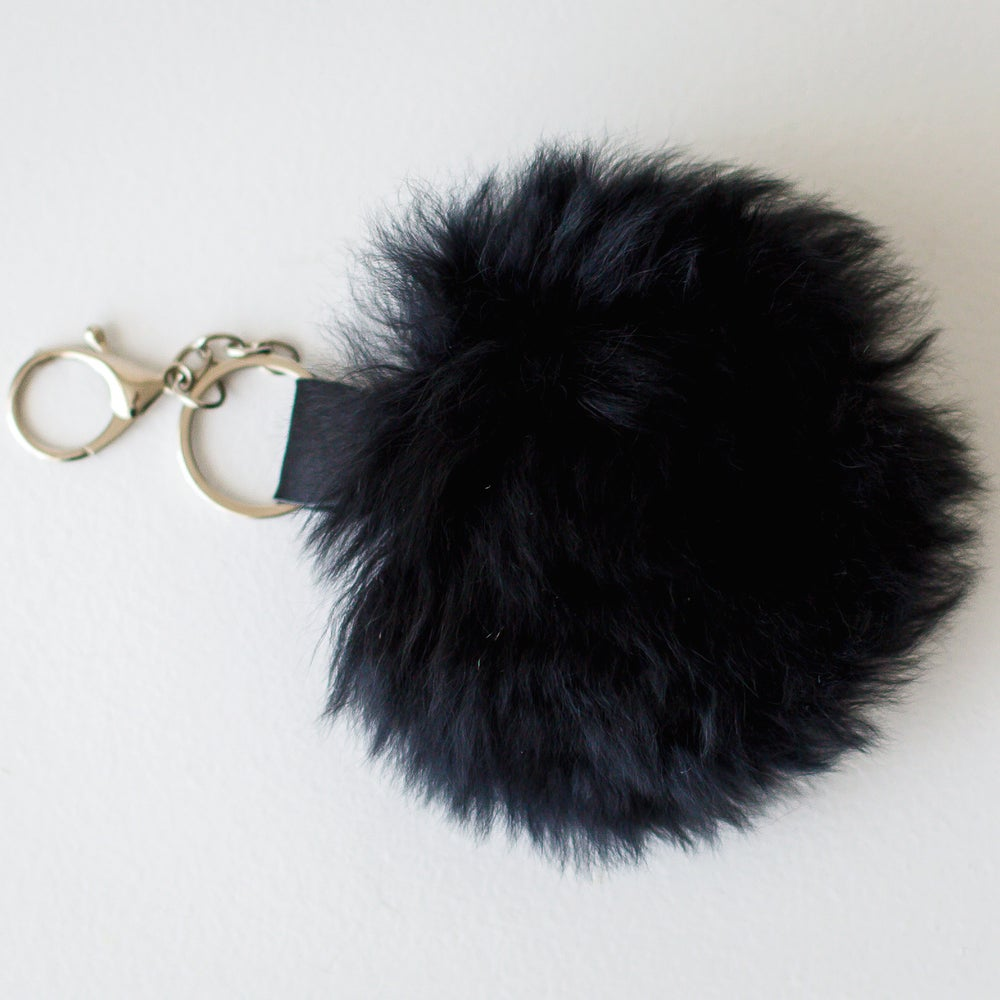 Image of Alpaca Fur Pom Pom Key Chain