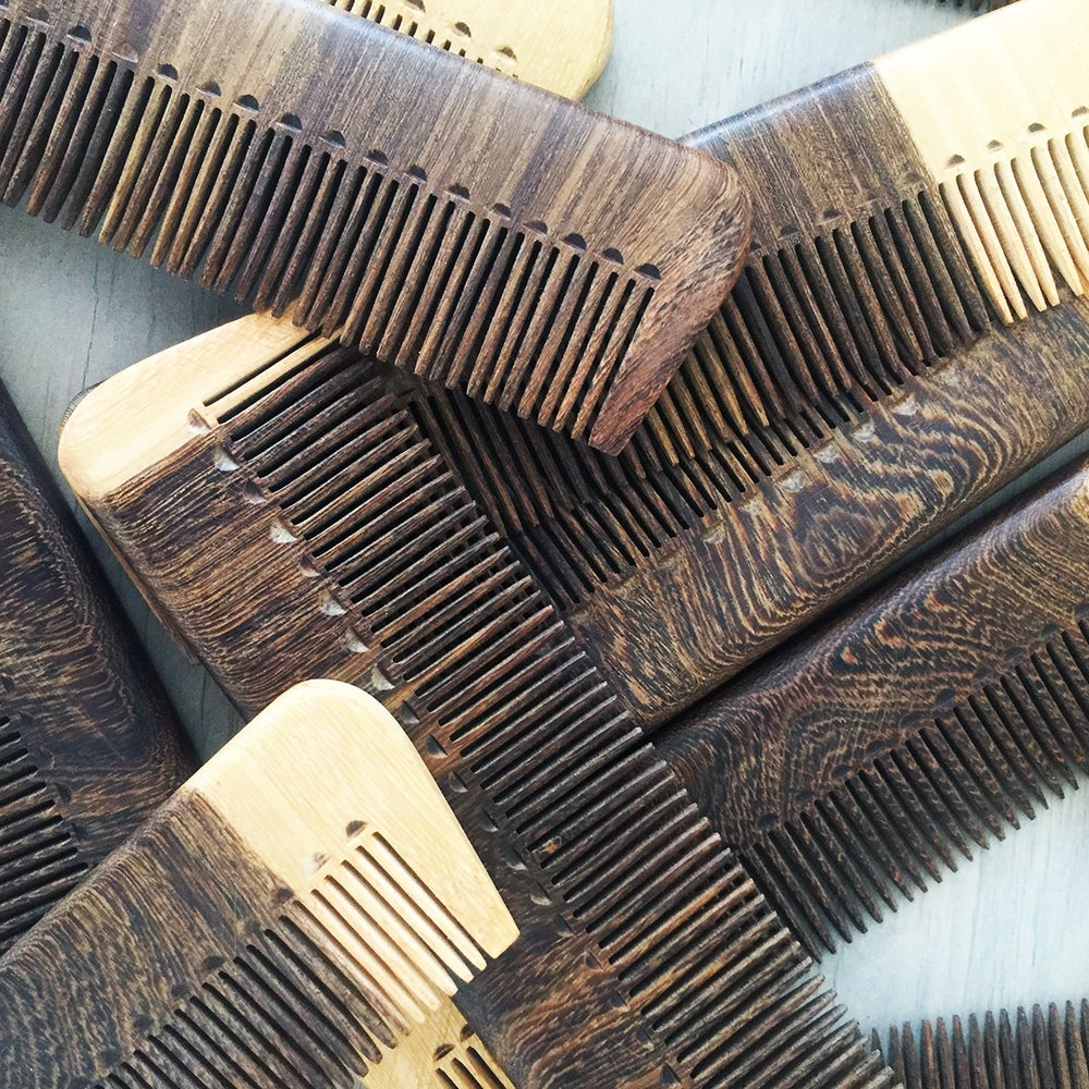 Image of Handmade Tropical Wood Hair Comb