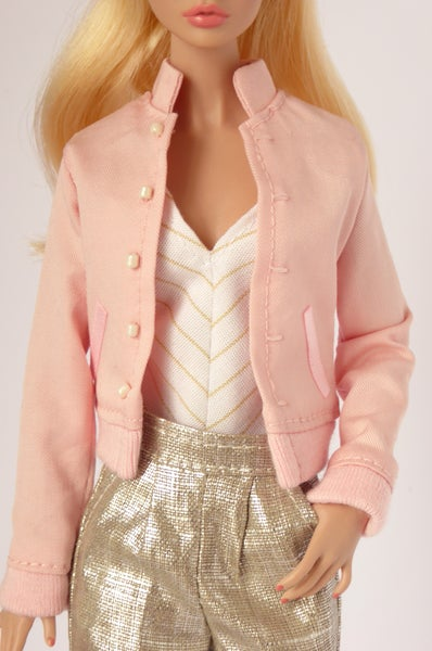 Image of Pink bomber jacket for Poppy Parker, Nu.Face or Barbie (see description)