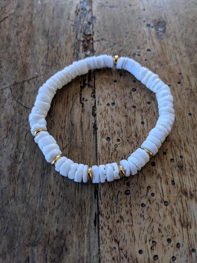 Image of Bracelet Varadero Coquillage Heishi