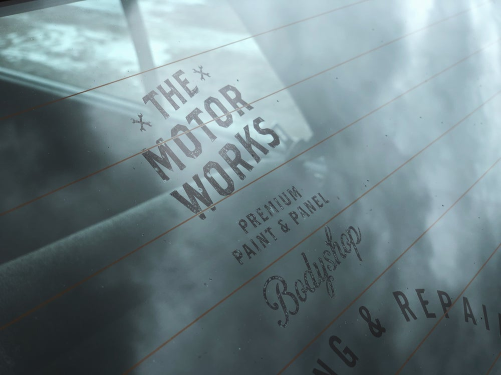 Image of The Motorworks Bodyshop Decal